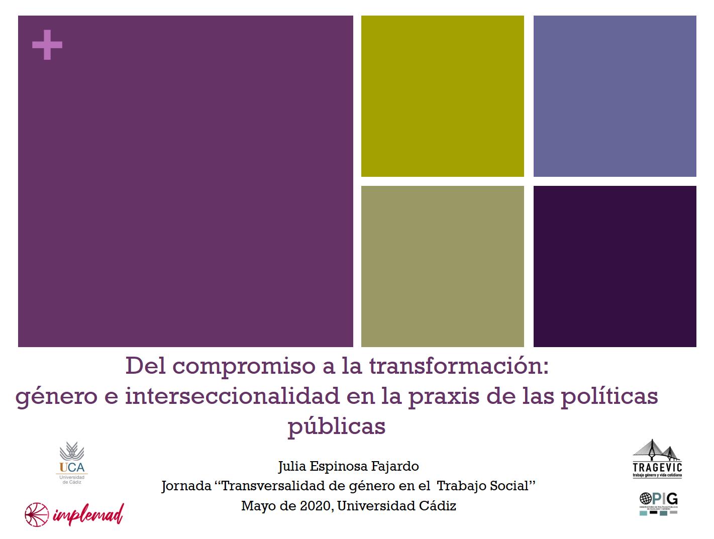 Del compromiso a la transformación: género e interseccionalidad en la praxis de las políticas públicas